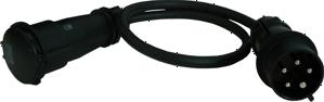 CEE16 Black Kabel (5x2,5mm²)